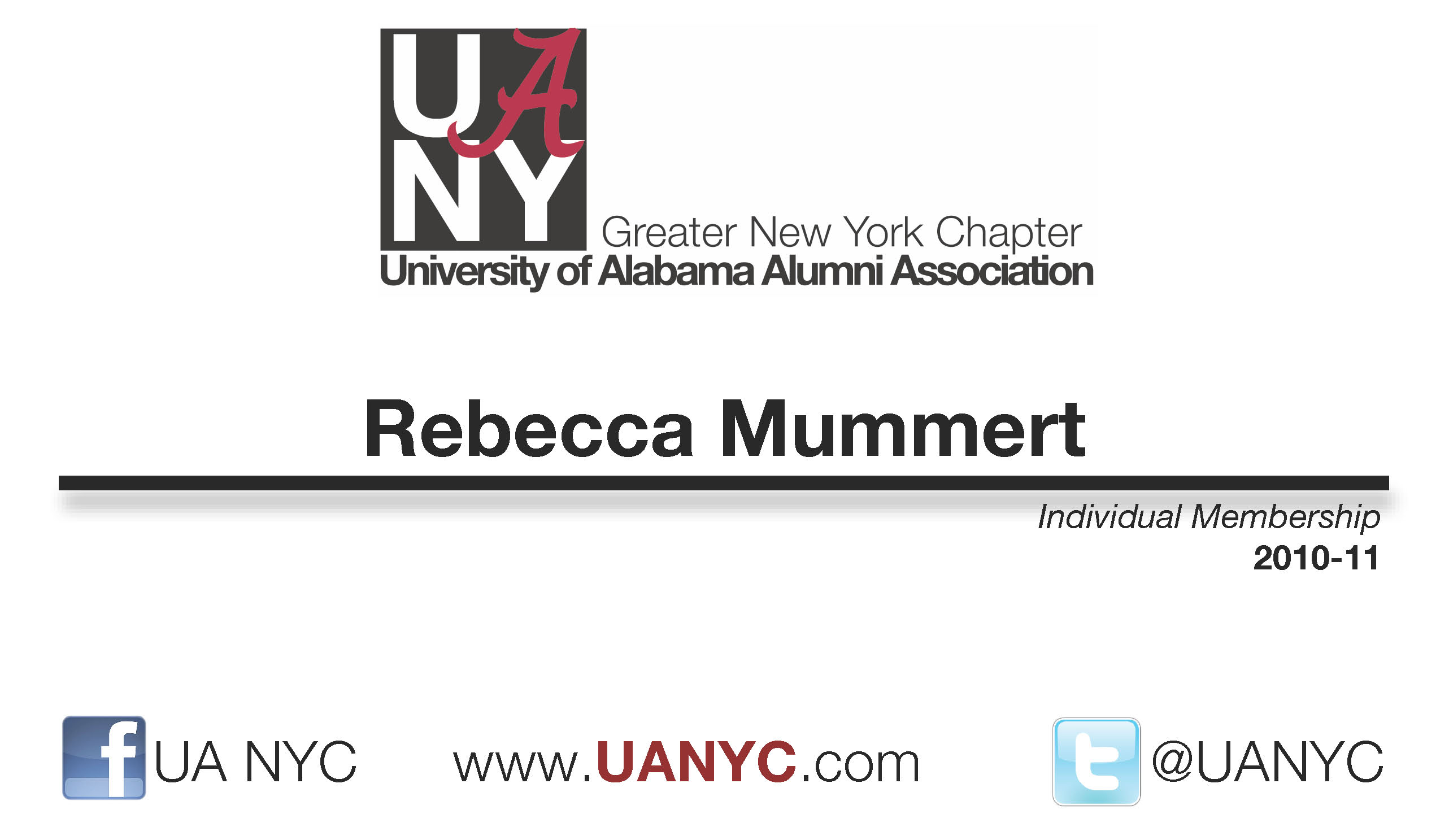 UANYC Membership Card